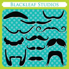 Mustaches - moustache, men, dad, brother, fathers day, photo booth props, photo props, party props - Personal and Commercial Use Clip Art. $5.00, via Etsy.
