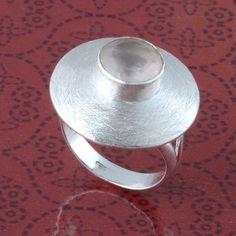 925 SOLID STERLING SILVER EXCLUSIVE ROSE QUARTZ CUT RING 6.23g DJR3311 #Handmade #Ring