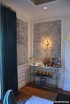 DC Design House Tour - DESIGN TIP - Frame wallpaper with simply molding