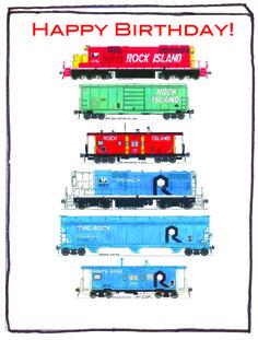 Birthday Postcard for Rock Island #Railroad Fans 2