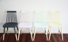 Simone Barter's Re-Love Project: For the Love of Chairs – Four Dining Room Chairs (AFTER)