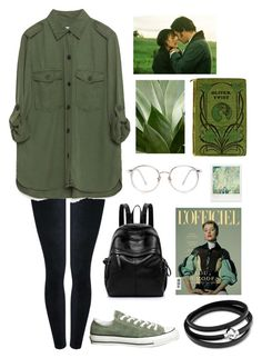 """Green and Black"" by yasmin-sm-vince on Polyvore featuring M&Co, Zara, Converse and Polaroid"