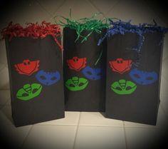 PJ Masks Birthday Balloon Weights & Confetti by BayBaysBoutique