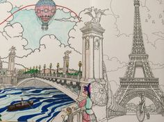 Coloring Paris Pictura via the Walter Foster Blog