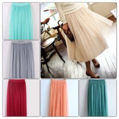 Tulle skirt for women in six colors my style шифон, шитье Jessica Day, Modest Outfits, Cute Outfits, Vogue, Ootd, Facon, Look Cool, Dress Me Up, Diy Clothes