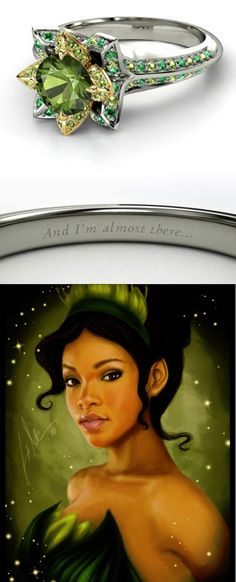"""Gorgeous #engagement #ring inspired by Tiana in #Disney """"The Princess and the Frog"""""""