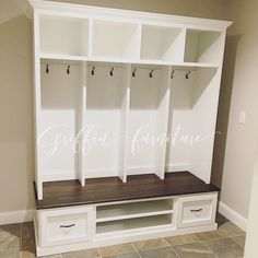 Entryway bench with storage/shoe rack/coat rack/hall tree/mudroom bench/mudroom/laundry room/Entryway Furniture Entryway Shoe Storage, Entryway Furniture, Diy Storage, Storage Ideas, Food Storage, 2x4 Furniture, Basement Storage, Smart Storage, Retro Furniture