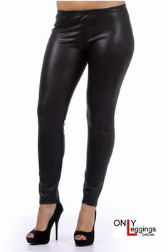 Matte Faux Leather Leggings Plus Size - Leggings Superstore