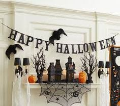 Image result for halloween spider banner wall