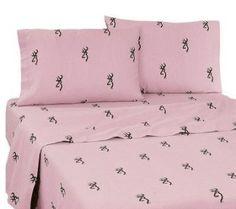 Browning Buckmark Pink Bedding - Sheet Set - XL Twin