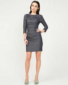 Denim-Like Knit Tunic: size xxsmall
