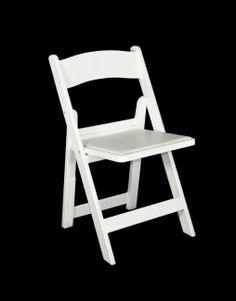 Folding Chair, White Resin