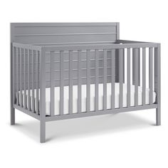 The Carter's Morgan 4-in-1 Convertible Crib features raised horizontal molding on a solid panel headboard. Converts to a toddler bed, day bed, and full-size bed for use long past the nursery years. Coordinates with the Carter's Morgan 3-Drawer (F11523) and Morgan 6-Drawer Dresser (F11526). Toddler Bed Conversion Kit (M3099), Full-size Conversion Kit (M5789), Standard-size Crib Mattress, and Carter's Under Crib Trundle sold separately.
