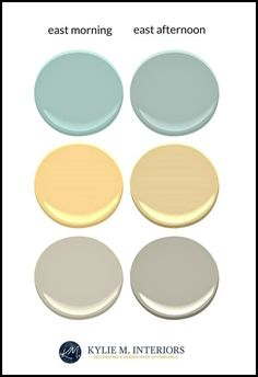 how paint colours are in an east facing room with eastern exposure light. Kylie M E-design, online colour consultant