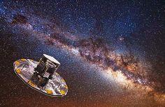 Ilustración Sonda espacial Gaia en el espacio
