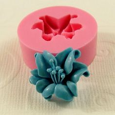 Lily Flower Cabochon Flexible Silicone Mold/Mould (18mm) for Crafts, Jewelry, Scrapbooking, (resin,  pmc, polymer clay) (209). $5.00, via Etsy.