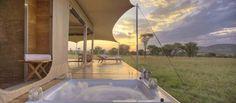 Das Camp ist semi-permanent, was bedeutet, dass es von einem Ort zum anderen bewegt werden kann. So kann der Standort der Route der wandernden Tierherden angepasst werden (innerhalb der gesetzlichen Nationalparkregeln).  Mit sechs Luxus-Zelten ausgestattet bietet auch das Roving Bushtops einen aussergewöhnlichen Service und Annehmlichkeiten. 24 Stunden persönlicher Butler-Service und pro Zelt ein eigenes Fahrzeug für die Tierbeobachtungen.