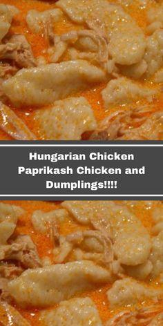 Chicken Paprikash With Dumplings, Hungarian Chicken Paprikash, Slovak Recipes, Hungarian Recipes, Czech Recipes, Healthy Chicken Recipes, Healthy Dinner Recipes, Cooking Recipes, Chicken And Cabbage