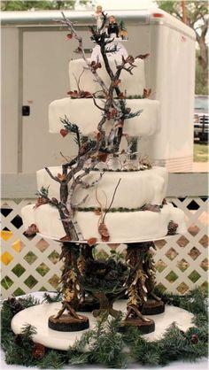 Uncategorized, White Camo Wedding Cake: Camo Wedding Cakes