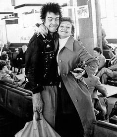 Sid Vicious with his mum, c.1977