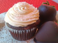 Strawberry Filled Chocolate Cupcakes with Vanilla Bean Butter Cream - gluten free, vegan and top 8 allergen free