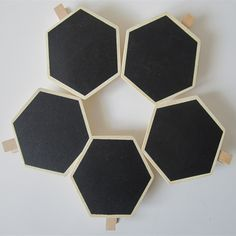 Find More Wood Crafts Information about 10PCS  Hexagon Natural Wooden Mini Chalkboard Clip Message Blackboard Wedding/Party/School Decoration Free Shipping,High Quality blackboard material,China blackboard Suppliers, Cheap blackboard pens from Better & Better Life on Aliexpress.com