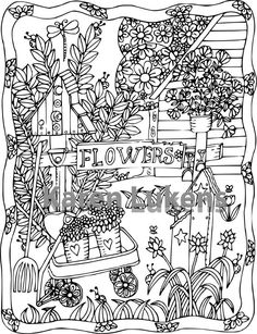 Check out this item in my Etsy shop https://www.etsy.com/listing/462239475/happyville-backyard-1-adult-coloring