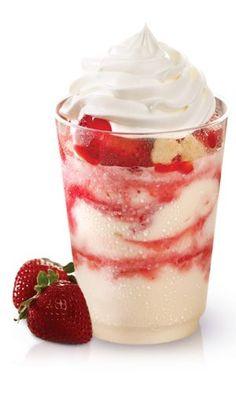 Strawberry Shortcake Frosty Parfait