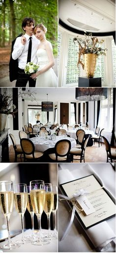 Black, White & Gold Wedding Theme  Ahh, if only my fiance and I had the money.