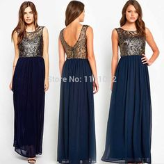 New 2017 Women Elegant Party Chiffon Dress Plus Size Backless Sexy Floor Length Summer Causal Backless long vestidos Maxi dress Banquet Dresses, Lace Party Dresses, Prom Dresses 2017, Party Gowns, Dress Party, Maxi Dresses, Maxi Dress Summer, Chiffon Maxi Dress, Lace Dress