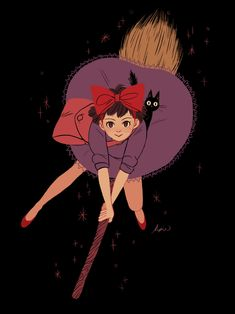 I love this movie so much! It might be my favorite studio Ghibli movie. All of their movies are SO good I don't know if I could choose a favorite. Studio Ghibli Films, Art Studio Ghibli, Totoro, Hayao Miyazaki, Anime Naruto, Sara Kipin, Kiki Delivery, Kiki's Delivery Service, Dibujos Cute
