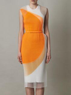 Stella McCartney Odilia organza and knit circle dress for women