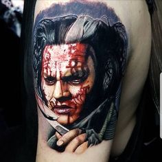 Tattoo by @thealexwright Movie Tattoos, Johnny Depp Movies, Fear And Loathing, The Lone Ranger, Chocolate Factory, Halloween Face Makeup, Tim Burton, Image, Pop Culture