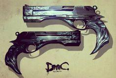 DMC: Devil May Cry Concept Art Dante's guns: Ebony & Ivory