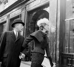 Exceptional Address: French model Bettina Graziani window-shops at Cartier, c. 1950.