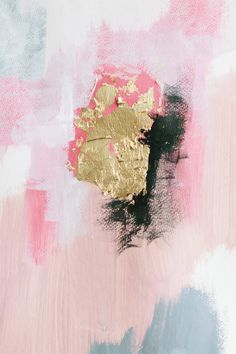 Pink, grey, white, black, and gold. A little painting inspiration for your day! Enjoy Art inspiration! Acrylic and Gold Leaf on canvas!