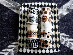 Sisustusta, nostalgisia tavaroita ja esineitä käsittelevä blogi. Vintage Coffee Cups, Vintage Cups, Retro Vintage, Coffee Set, Marimekko, Live Long, Scandinavian Design, Interior Design, Fabric