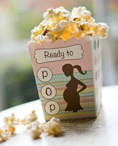 Check out the latest, most affordable baby shower favor box from the Ready to Pop Shop!