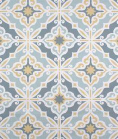 Premier Prints Harford Saffron Macon Fabric in yellow and blue - $9.98   onlinefabricstore.net