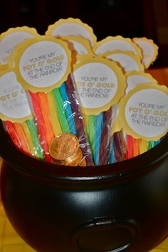 """Noah's Ark Party - You are my """"pot o gold"""" at the end of the rainbow. - A fun party favor for our party guests."""