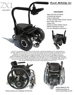Spinergy ZX1: power add-on for rigid-frame manual wheelchair. Fits chairs 14-20 inches wide with no modifications necessary