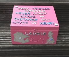 Personalised Best Friends keepsake box with maps by scratchycat, £24.50