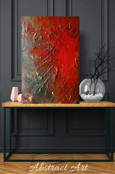 Introducing art to my etsy shop large art original abstract painting, acrylic, interior design Wall Design, Design Art, Interior Design, Vintage Design, Texture Painting, Acrylic Art, Home Decor Wall Art, Large Art, House Painting