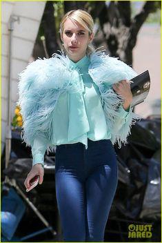 lea michele emma roberts begin filming scream queens season 200306