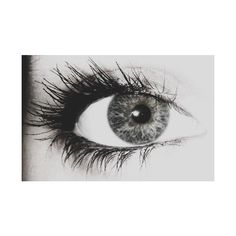 Black and White Eye, Mascara ❤ liked on Polyvore featuring eyes, makeup, pictures, black and white and backgrounds