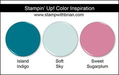 Stampin' Up! Color Inspiration: Island Indigo, Soft Sky, Sweet Sugarplum
