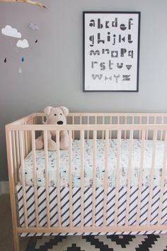 Henry's Balanced 'Lagom' Nursery — My Room Mint Nursery, Nursery Neutral, Cover Gray, Baby Bedroom, Nursery Inspiration, Woodland Nursery, Changing Pad, Table Covers, Burp Cloths