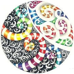 Enthusiastic Artist: Spirals for the 'color' challenge