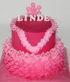 Pink birthday cake - All she wanted was pink....