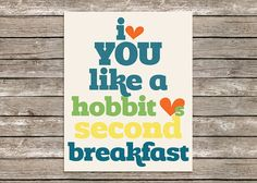 8x10 Humorous Second Breakfast Hobbit by PolkadotPrintCompany, $12.49